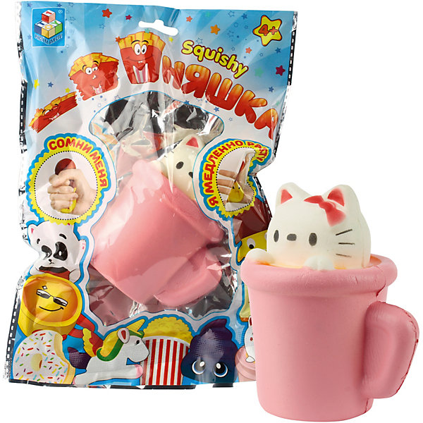 1Toy Игрушка-антистресс Мммняшка Мини-кошка в чашке