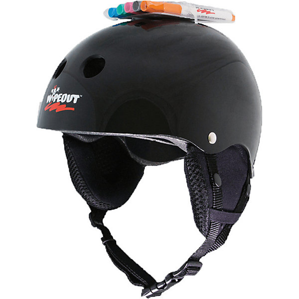 Wipeout Зимний защитный шлем Wipeout Black с фломастерами, quelle heine 118617
