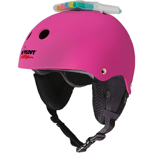 Wipeout Зимний защитный шлем Neon Pink с фломастерами,