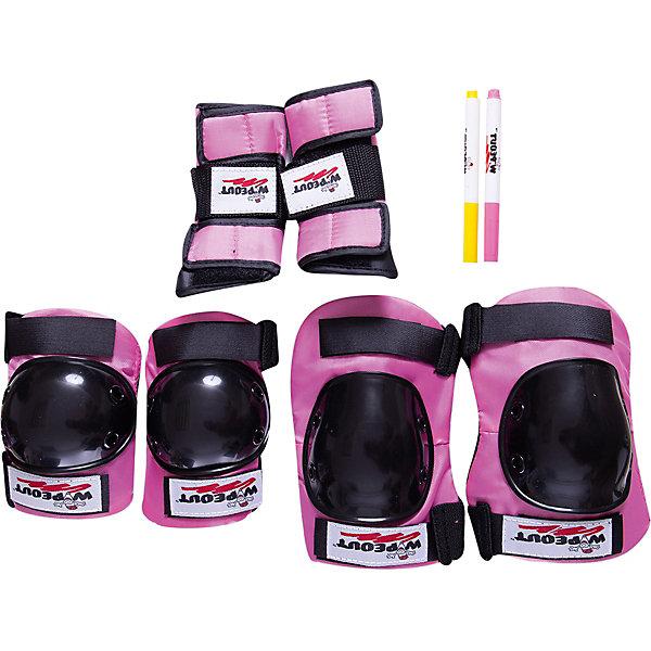 Комплект защиты Wipeout Pink с фломастерами, розовый