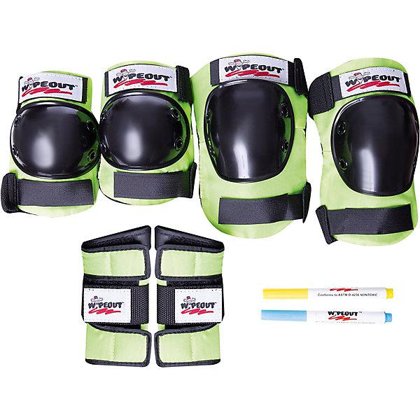 Комплект защиты Wipeout Zest с фломастерами, кислотный