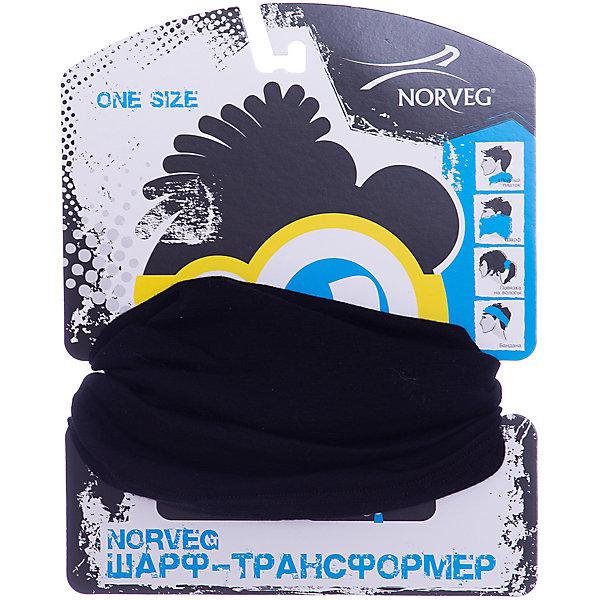 Шарф-трансформер Norveg, Россия, черный, one size, Унисекс  - купить со скидкой