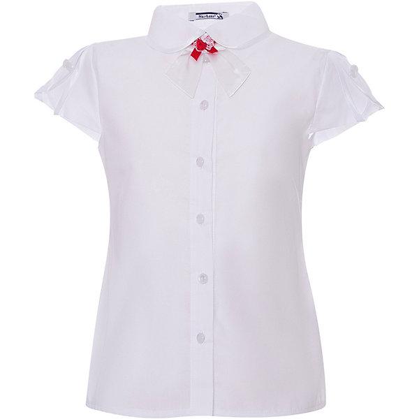 Купить Блуза SKYLAKE для девочки, Россия, белый, 140, 128, 146, 152, 134, Женский
