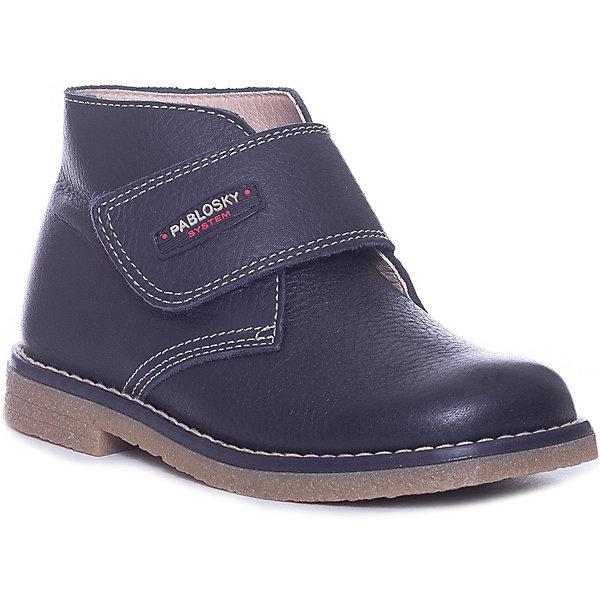 Pablosky Ботинки Pablosky для мальчика ботинки для мальчика зебра цвет синий 12593 5 размер 21