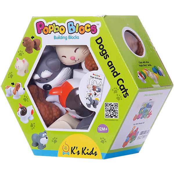 Купить Мягкий конструктор K'S Kids Котики и щенята , Китай, разноцветный, Унисекс