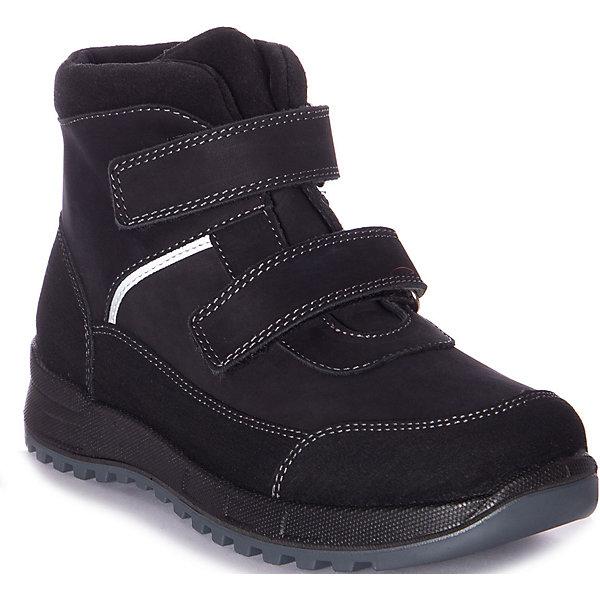 Ботинки Котофей для мальчика черного цвета