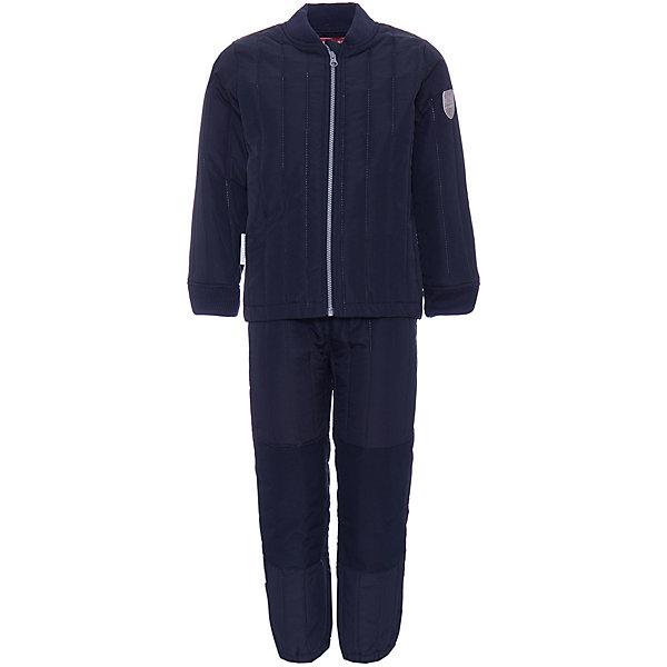 Комплект: куртка,брюки  Ticket To HeavenФлис и термобелье<br>Характеристики товара:<br><br>• состав ткани: 100% полиэстер <br>• подкладка: 100% полиэстер <br>• утеплитель: 100% полиэстер 80 гр/м2 <br>• сезон: демисезон <br>• температурный режим: от 0 до +10<br>• комплектация: куртка, полукомбинезон<br>• водоотталкивающая ткань <br>• застежка: молния <br>• светоотражающие детали <br>• страна бренда: Дания<br><br>Этот непромокаемый детский комплект состоит из полукомбинезона и куртки со светоотражающими деталями. Полукомбинезон легко одевается благодаря подтяжкам и штрипкам, которые можно отстегнуть. Куртка с ветрозащитной планкой. Материал комплекта помогает создать оптимальный для ребенка микроклимат в холодную погоду, он отличается хорошей износостойкостью, швы проклеены.