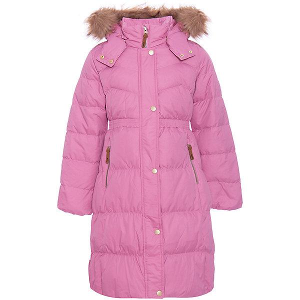 Пальто Ticket To Heaven для девочкиВерхняя одежда<br>Характеристики товара:<br><br>• состав ткани: 100% полиамид <br>• подкладка: 100% полиэстер <br>• утеплитель: 70% пух, 30% перо <br>• сезон: зима <br>• температурный режим: от 0 до -20С <br>• особенности модели: с капюшоном <br>• водоотталкивающая способность: 10000 мм <br>• воздухопроницаемость: 10000 г/м <br>• износостойкость: 50000 <br>• застежка: молния <br>• светоотражающие детали <br>• страна бренда: Дания<br><br>Модное детское пальто создает оптимальный микроклимат для тела, так как пропускает воздух, но не влагу. Пальто для детей отличается высокой износостойкостью, наличием капюшона с опушкой, наполнителем из пуха. Такое пальто для ребенка - удлиненного силуэта, поэтому успешно препятствует попаданию внутрь снега и холодного воздуха. Детская одежда от бренда Ticket to Heaven из Дании создается с учетом потребностей ребенка, она не дает детям замерзнуть или промокнуть.
