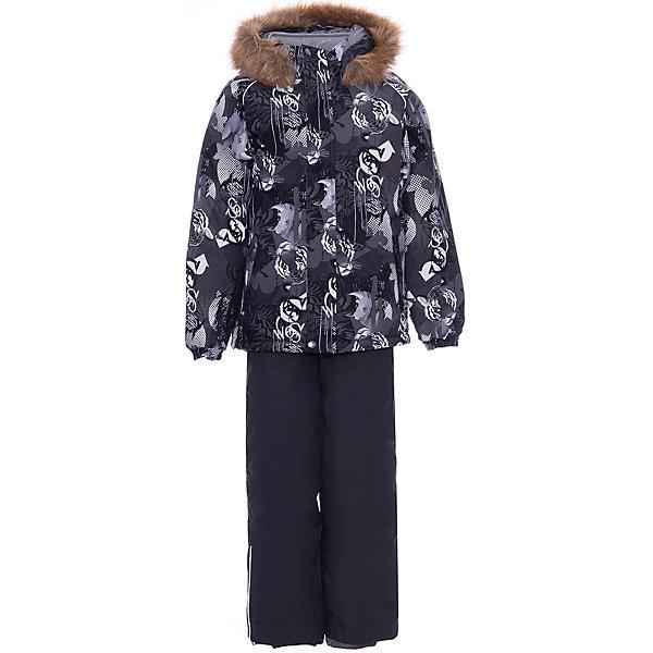 Купить Комплект Huppa Winter: куртка и полукомбинезон, Эстония, темно-серый, 128, 140, 110, 122, 116, 134, Унисекс