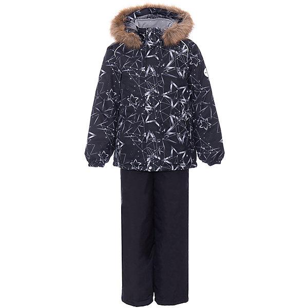 Купить Комплект Huppa Winter: куртка и полукомбинезон, Эстония, черный, 140, 128, 134, 92, 104, 110, 98, 116, 122, Унисекс