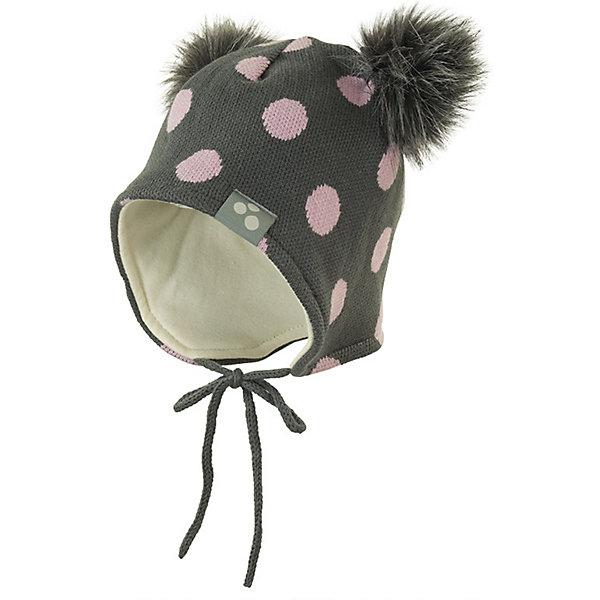 Купить Шапка FIONA HUPPA для девочки, Эстония, серый, 39-41, 47-49, 43-45, 51-53, Женский