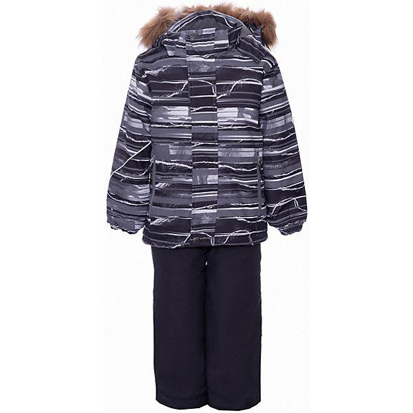 Купить Комплект Huppa Dante 1: куртка и полукомбинезон, Эстония, серый, 116, 122, 104, 110, Унисекс