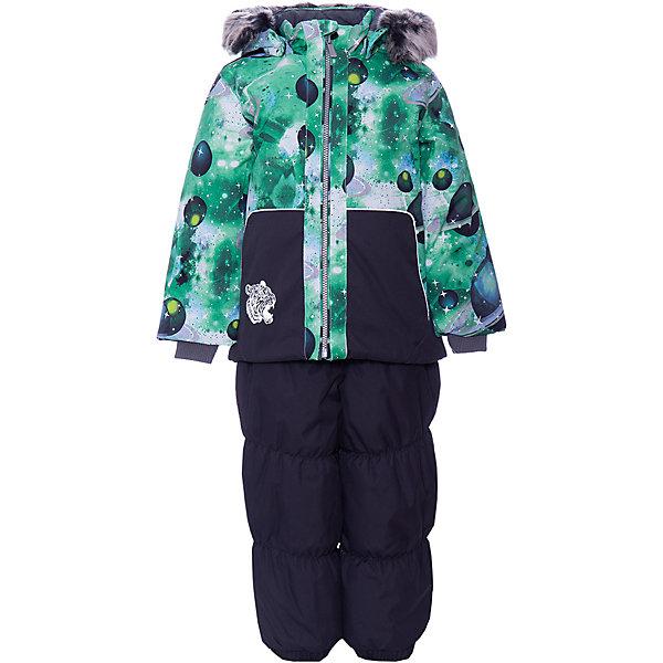Купить Комплект Huppa Russel: куртка и полукомбинезон, Эстония, зеленый, 80, 86, 98, 110, 104, 92, Унисекс
