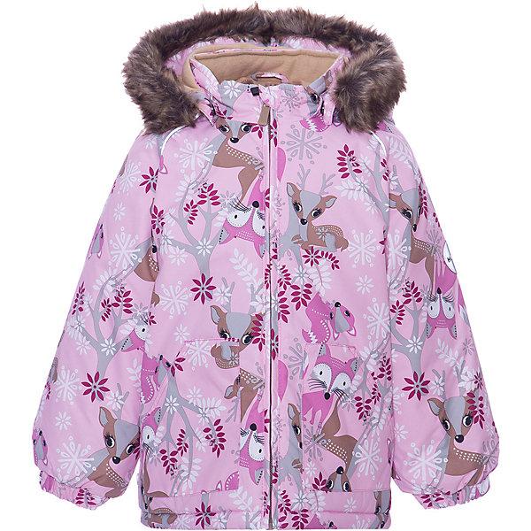 Утепленная куртка Huppa VirgoКуртки<br>Характеристики товара: <br><br>• модель: Virgo <br>• состав: 100% полиэстер <br>• подкладка: 100% хлопок, фланель <br>• утеплитель: 100% полиэстер, 300 гр/м2 <br>• сезон: зима <br>• температурный режим: от -20 до -30С <br>• водонепроницаемость: 5000 мм <br>• воздухопроницаемость: 5000 г/м2/24ч <br>• застёжка: молния <br>• сидельный шов проклеен и не пропускает влагу <br>• манжеты рукавов эластичные, на резинках <br>• низ брюк затягивается на шнурок с фиксатором <br>• внутренние снегозащитные манжеты на штанинах <br>• полукомбинезон с высокой грудкой, внутренние швы отсутствуют <br>• эластичные подтяжки регулируются по длине <br>• безопасный капюшон крепится на кнопки и, при необходимости, отстегивается <br>• искусственный мех на капюшоне не съемный <br>• молния с защитным клапаном <br>• светоотражающие элементы для безопасности ребенка <br>• страна бренда: Финляндия<br><br>Утепленная куртка прямого кроя с удлиненной спинкой и карманами на липучках. Утяжка по низу и планка на молнии исключает поддувание и попадание снега под куртку. Теплый капюшон с меховой опушкой легко отстегивается. Это предотвращает опасные ситуации во время игры, например, если капюшон ребенка за что-то зацепится. Утепленная куртка с высокой спинкой и резинкой на поясе скроены без внутреннего шва, поэтому они более устойчивы к истиранию и проникновению влаги. Задний шов проклеен. Утяжка с фиксатором по нижней части брюк и снежные гетры надежно защищают от попадания снега в обувь. Светоотражающие элементы повышают безопасность ребенка при нахождении на улице при любой видимости и в темное время суток.