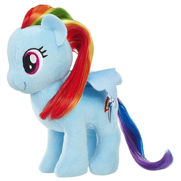 Hasbro Мягкая игрушка My little Pony Пони с волосами Рэйнбоу Дэш, 16 см hasbro пони с блестками my little pony b0357 b3222