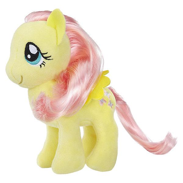 Hasbro Мягкая игрушка My little Pony Пони с волосами Флаттершай, 16 см hasbro пони с блестками my little pony b0357 b3222