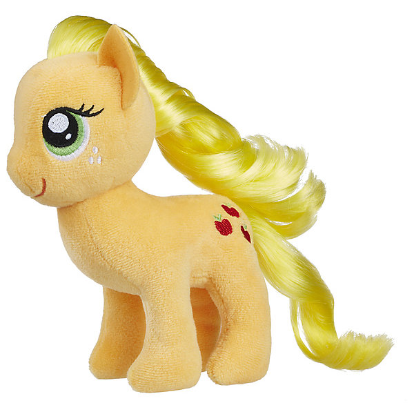 Hasbro Мягкая игрушка My little Pony Пони с волосами Эплджек, 16 см hasbro пони с блестками my little pony b0357 b3222