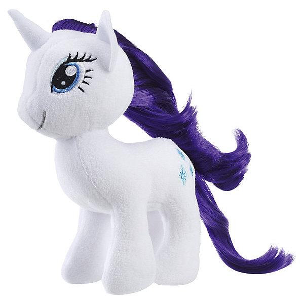 Hasbro Мягкая игрушка My little Pony Пони с волосами Рарити, 16 см hasbro пони с блестками my little pony b0357 b3222