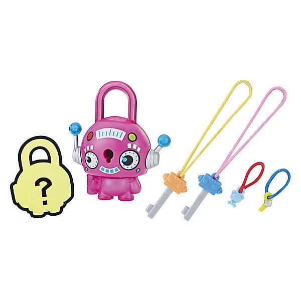 Купить Замочки с секретом Lock Stars, Розовый круглый робот, Hasbro, Китай, Женский
