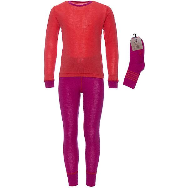Купить Комплект Janus для девочки, Норвегия, розовый, 80, 120, 160, 90, 130, 140, 150, 100, 110, Женский