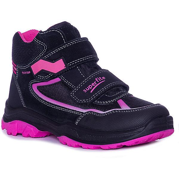 Купить Ботинки Superfit для девочки, Румыния, черный/розовый, 26, 35, 29, 31, 28, 34, 30, 33, 25, 32, 27, Женский