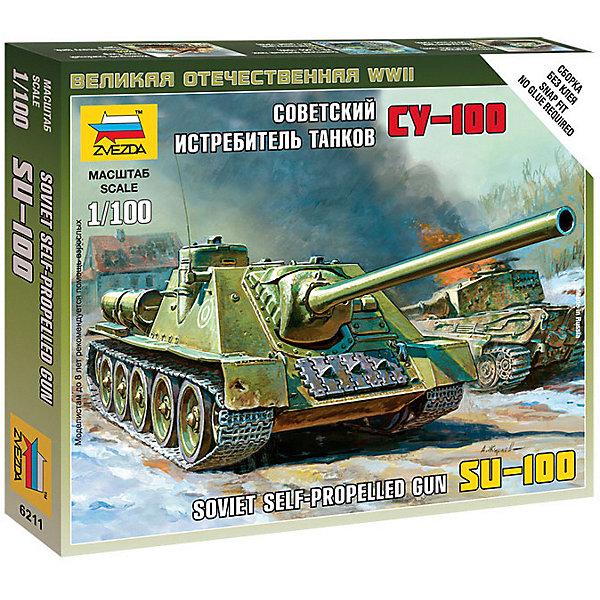 Звезда Сборная модель Звезда Советский истребитель танков СУ-100 истребитель танков звезда советский истребитель танков ису 122 1 72 зеленый 5054