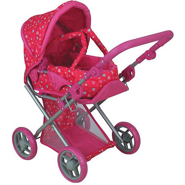 коляски для кукол Buggy Boom Коляска для кукол Buggy Boom Infinia трасформер, розовая