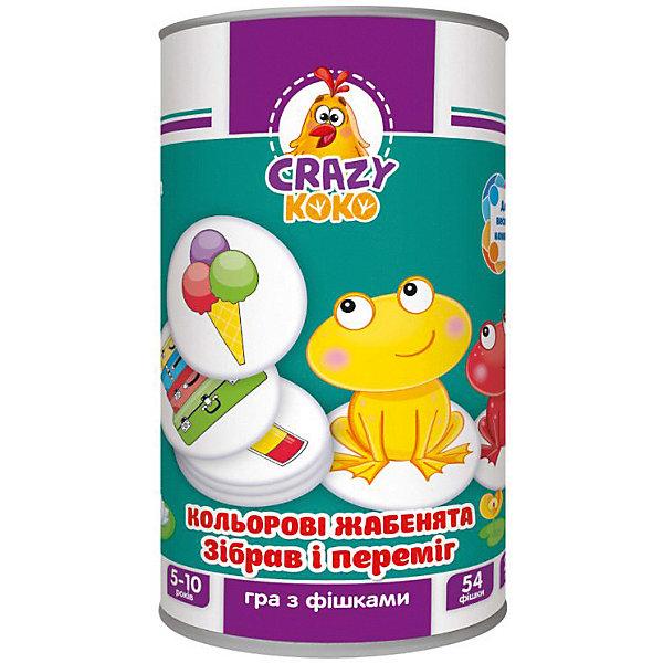 Vladi Toys Настольная игра Цветные лягушата