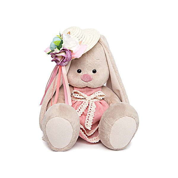 Budi Basa Мягкая игрушка Budi Basa Зайка Ми в розовом платье и шляпке с цветами, 23 см budi basa мягкая игрушка budi basa зайка ми в голубой пижаме 23 см