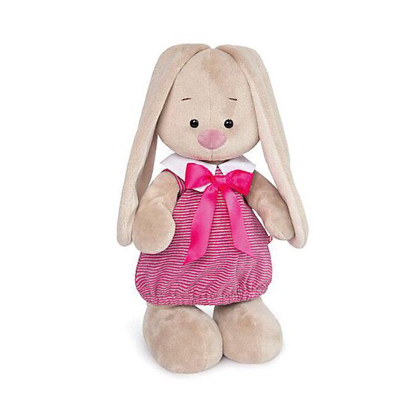 Budi Basa Мягкая игрушка Budi Basa Зайка Ми в платье в розовую полоску, 25 см cuski комфортер betty из хлопк серый в розовую полоску 99999
