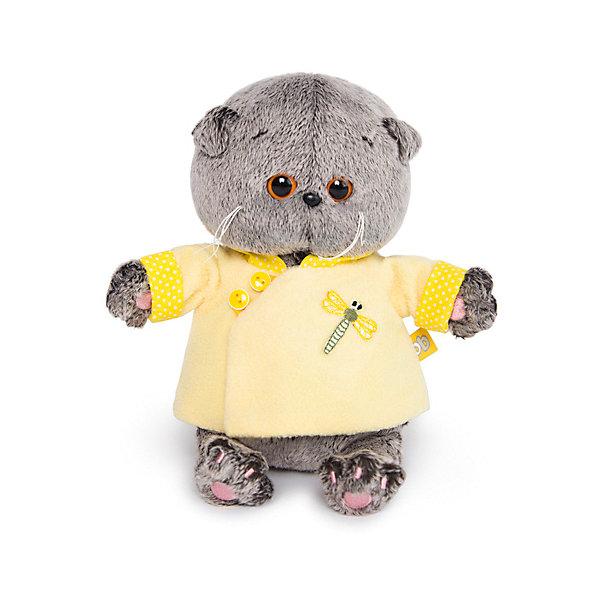 Купить Мягкая игрушка Budi Basa Кот Басик Baby в желтой курточке в китайском стиле, 20 см, Россия, коричневый, Унисекс
