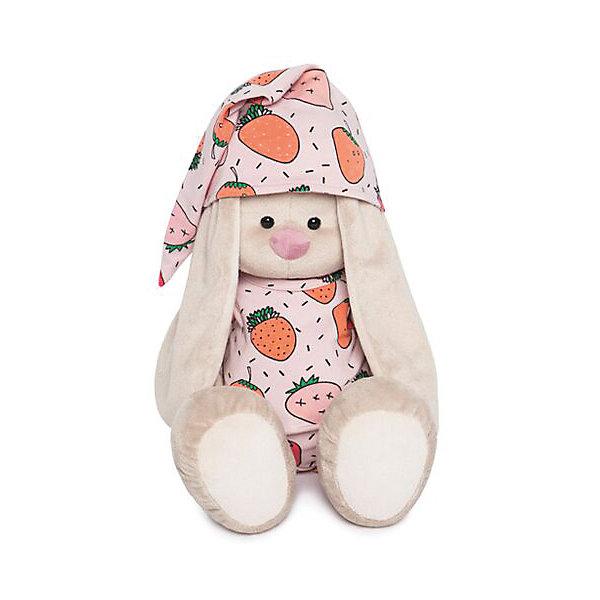 Budi Basa Мягкая игрушка Зайка Ми в пижаме клубничку, 34 см