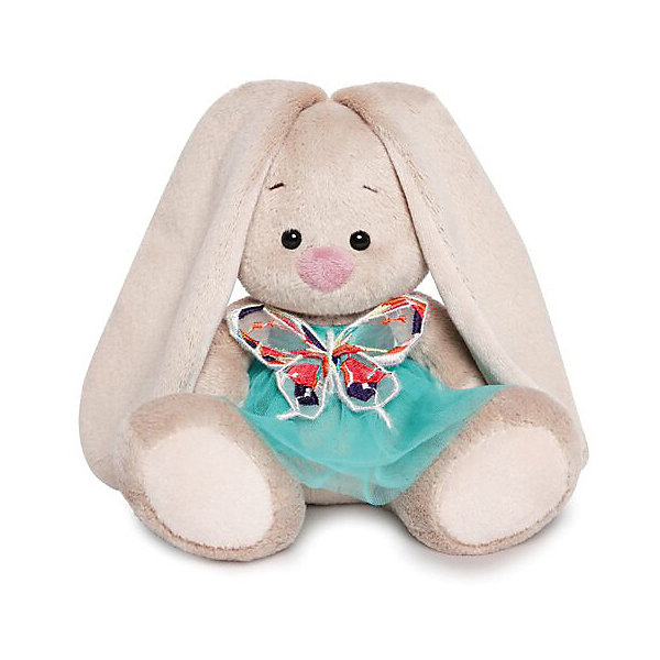 Budi Basa Мягкая игрушка Зайка Ми в бирюзовой юбочке с бабочкой, 15 см