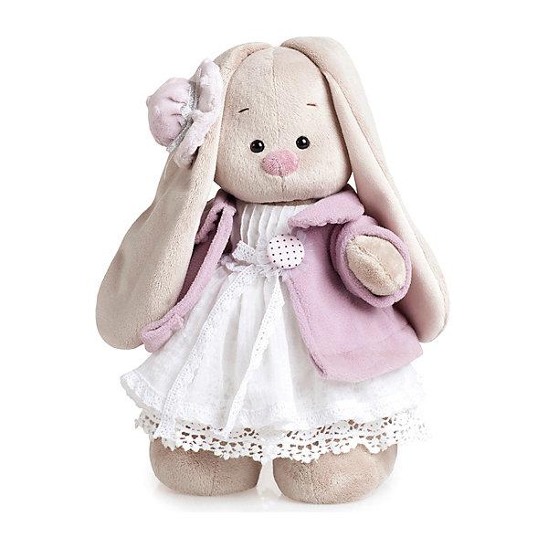 Budi Basa Мягкая игрушка Зайка Ми в фиолетовом пальто и белом платье, 25 см