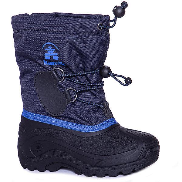 Сноубутсы Kamik Southpole4Сноубутсы<br>Характеристики товара:<br><br>• цвет: синий;<br>• материал верха: водонепроницаемый нейлон;<br>• подклад: влагопоглощающий текстиль;<br>• стелька: влагопоглощающий текстиль;<br>• подошва: синтетическая резина;<br>• сезон: зима;<br>• температурный режим: от -32 до 0;<br>• съемный внутренний сапожок Zylex;<br>• застежка: шнурки, утяжка;<br>• защита мыса;<br>• подошва не скользит;<br>• анатомические;<br>• страна бренда: Канада.<br><br>Стильные и комфортные Сноубутсы для ребенка от известного бренда Kamik отлично защищают ноги от холода и влаги. Эти детские Сноубутсы дополнены нескользящий подошвой, удобными застежками и влагопоглощающей подкладкой. Зимние Сноубутсы для детей сделаны из водонепроницаемого нейлона со снегозащитной кулиской, низ обуви - из прочной синтетической резины, которая не боится даже сильных морозов. Популярный бренд из Канады Kamik - это гарантия качественной и функциональной вещи, стильно выглядящей и обеспечивающей ногам комфорт.