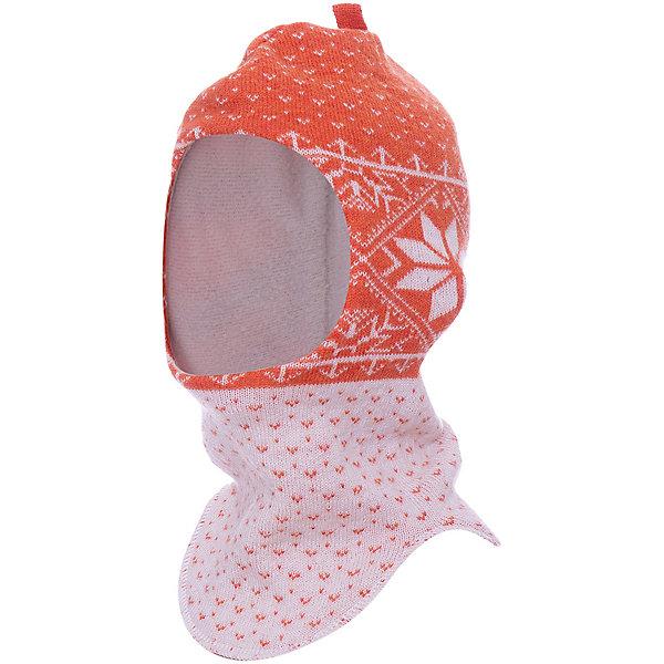 Шапка-шлем NorvegФлис и термобелье<br>Параметры изделия:<br>• обхват головы: 46 см<br><br>Характеристики товара:<br><br>• цвет: оранжевый с принтом<br>• состав: 100% шерсть мериноса<br>• подкладка: 100% полиэстер (флис)<br>• особенности: не вызывает аллергии, не колется, обладает высокой теплоизоляцией<br>• сезон: демисезон, зима<br>• температурный режим: от +5 до -20С<br>• страна бренда: Германия<br><br>Теплая шапка-шлем выполнена из двухслойного трикотажа. Благодаря специальному крою модель не стесняет движений и подходит для любого фасона верхней одежды. Теплоизоляционные свойства материала позволяют волосам ребенка всегда оставаться сухими, а мягкая гигроскопичная подкладка комфортна при носке. Шапка-шлем надежно защищает ребенка от ветра и холода.