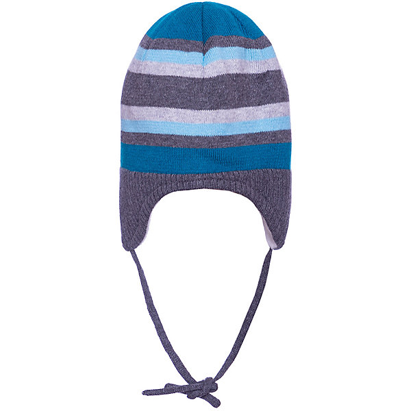 Шапка Sterntaler для мальчикаШапочки<br>Характеристики товара:<br><br>• цвет: серый;<br>• состав: 100% хлопок;<br>• подкладка: 100% хлопок;<br>• утеплитель: без дополнительного утепления;<br>• сезон: зима;<br>• температурный режим: от 0 до -20С;<br>• застёжка: шапка на завязках;<br>• особенности: вязаная;<br>• мягкая эластичная кромка;<br>• шапка в полоску;<br>• страна бренда: Германия.<br><br>Детская шапка Sterntaler (Штернталер). Вязаная шапка на завязках, которые не натирают. Эластичная кромка не давит. Подкладка из мягкого хлопкового трикотажа сохранит уши и голову в тепле. Шапка в контрастную крупную полоску, подкладка контрастного белого цвета.