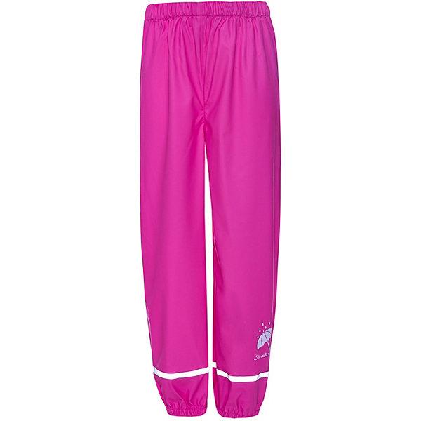 Непромокаемые брюки Sterntaler для девочкиВерхняя одежда<br>Характеристики товара:<br><br>• цвет: розовый;<br>• состав: 100% полиэстер, полиуретановое покрытие;<br>• подкладка: без подкладки;<br>• сезон: демисезон;<br>• температурный режим: от 0 до +15С;<br>• застёжка: брюки на резинке;<br>• все швы проклеены и герметичны;<br>• эластичный материал;<br>• штрипки;<br>• светоотражающие детали;<br>• страна бренда: Германия.<br><br>Лёгкие брюки для прогулок в ненастную погоду. Изготовлены из мягкого, эластичного материала.<br>Пояс с эластичной резинкой обеспечивает идеальную посадку на талии. Модель дополнена петлями для ступни, светоотражателями в области штанин, что обеспечивает безопасность в тёмное время суток. Одним из главных преимуществ модели являются герметичные швы и полиуретановое покрытие, благодаря чему изделие не промокнет даже в самую дождливую погоду.