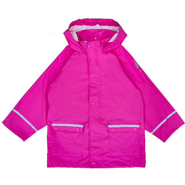 Куртка-дождевик Sterntaler для девочкиВерхняя одежда<br>Характеристики товара:<br><br>• цвет: розовый;<br>• состав: 100% полиэстер, полиуретановое покрытие;<br>• подкладка капюшона: 100% хлопок;<br>• сезон: демисезон;<br>• температурный режим: от 0 до +15С;<br>• все швы проклеены и герметичны;<br>• эластичный материал;<br>• безопасный съёмный капюшон на кнопках;<br>• капюшон с мягкой хлопковой подкладкой;<br>• ветрозащитная планка на кнопках;<br>• два кармана на кнопках;<br>• светоотражающие детали;<br>• страна бренда: Германия.<br><br>Лёгкая куртка-дождевик для прогулок в ненастную погоду. Изготовлена из мягкого, эластичного материала. Модель оборудована съемным капюшоном на кнопках, с хлопковой подкладкой.<br>Застёгивается на молнию с широкой ветрозащитной планкой на кнопках. Одним из главных преимуществ модели являются герметичные швы и полиуретановое покрытие, благодаря чему изделие не промокнет даже в самую дождливую погоду. Светоотражатели в области рукавов и карманов обеспечат безопасность в тёмное время суток.