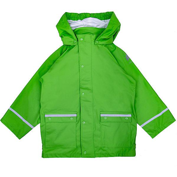 Куртка-дождевик Sterntaler для мальчикаВерхняя одежда<br>Характеристики товара:<br><br>• цвет: зелёный;<br>• состав: 100% полиэстер, полиуретановое покрытие;<br>• подкладка капюшона: 100% хлопок;<br>• сезон: демисезон;<br>• температурный режим: от 0 до +15С;<br>• все швы проклеены и герметичны;<br>• эластичный материал;<br>• безопасный съёмный капюшон на кнопках;<br>• капюшон с мягкой хлопковой подкладкой;<br>• ветрозащитная планка на кнопках;<br>• два кармана на кнопках;<br>• светоотражающие детали;<br>• страна бренда: Германия.<br><br>Лёгкая куртка-дождевик для прогулок в ненастную погоду. Изготовлена из мягкого, эластичного материала. Модель оборудована съемным капюшоном на кнопках, с хлопковой подкладкой.<br>Застёгивается на молнию с широкой ветрозащитной планкой на кнопках. Одним из главных преимуществ модели являются герметичные швы и полиуретановое покрытие, благодаря чему изделие не промокнет даже в самую дождливую погоду. Светоотражатели в области рукавов и карманов обеспечат безопасность в тёмное время суток.