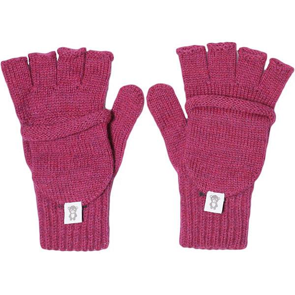 Lamba villo Перчатки Lamba villo перчатки без пальцев шерстяные с рисунком розовые
