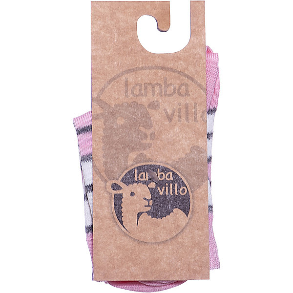 Купить Носки merino Lamba villo, Латвия, розовый/белый, 27-30, 23-26, 31-34, 19-22, 35-38, 39-41, Унисекс