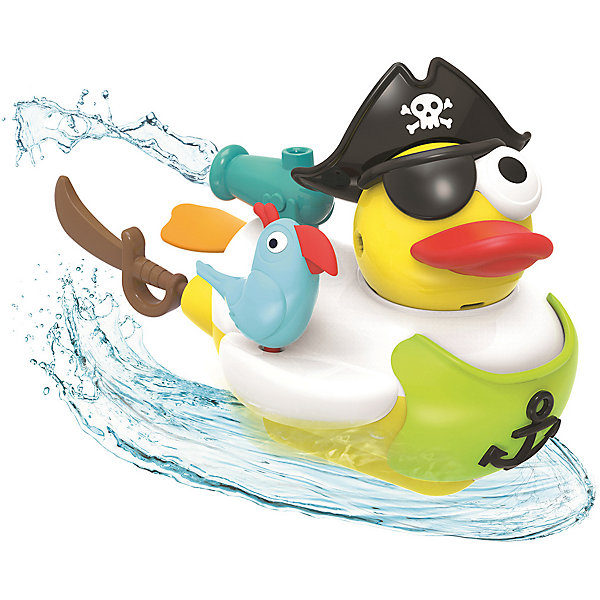 Yookidoo Водная игрушка Yookidoo Утка-пират, с водометом и аксессуарами игрушка