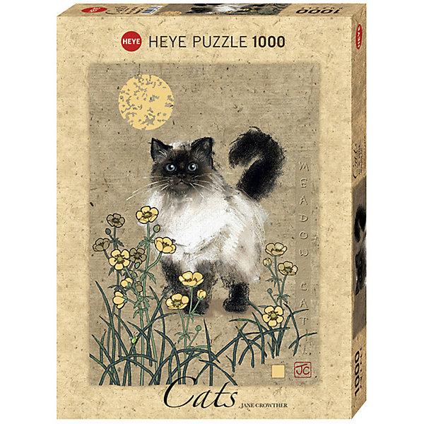 Купить Пазлы HEYE Кошка на лугу , 1000 деталей, с фольгой, Германия, Унисекс