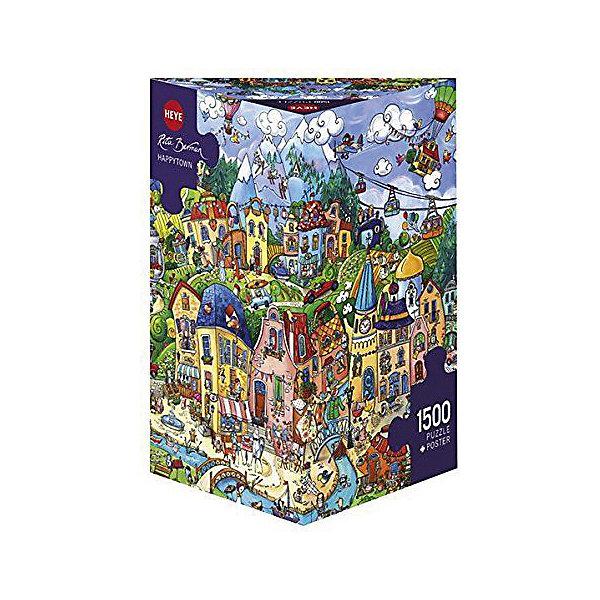 Купить Пазлы HEYE Счастливый город , 1500 деталей, Германия, Унисекс