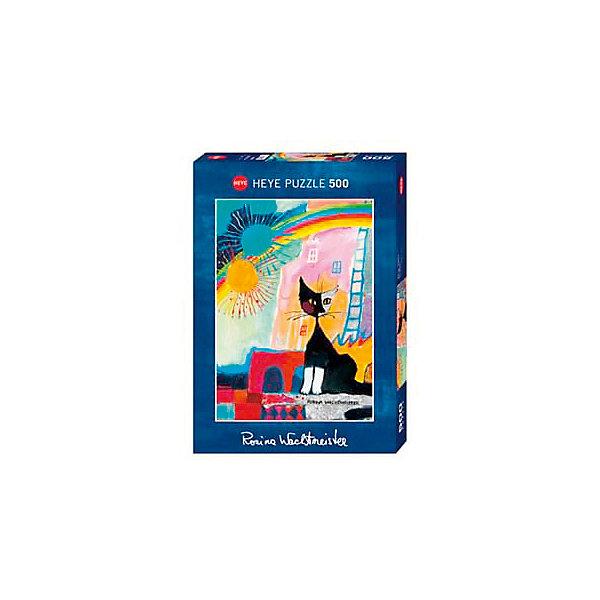 Купить Пазлы HEYE Котенок под радугой , 500 деталей, с фольгой, Германия, Унисекс