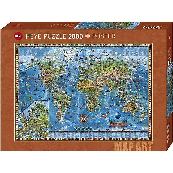 HEYE Пазлы HEYE Географическая карта, 2000 деталей heye пазл шерлок холмс 2000 деталей heye