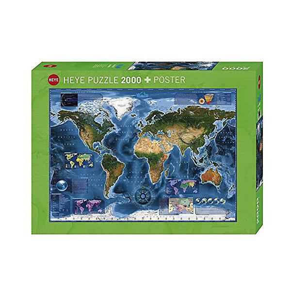 Купить Пазлы HEYE Спутниковая карта , 2000 деталей, Германия, Унисекс
