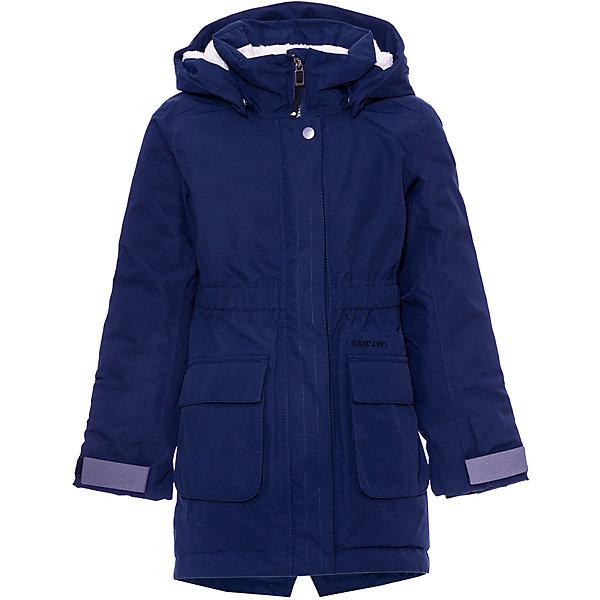 Куртка RONNE DIDRIKSONS1913 для девочкиВерхняя одежда<br>Характеристики товара:<br><br>• цвет: синий;<br>• состав ткани: 100% молиэстер;<br>• подкладка: 100% полиэстер, мягкая подкладка;<br>• утеплитель: 120 гр м/2;<br>• сезон: зима;<br>• температурный режим: от +5 до -15С;<br>• застёжка: молния с защитой подбородка;<br>• особенности: мембранная;<br>• водонепроницаемость: 10000 мм;<br>• воздухопроницаемость: 5000 мм;<br>• ламинация, пропитка без фторуглерода - DWR finish;<br>• все швы проклеены и водонепроницаемы;<br>• безопасный съёмный и регулируемый капюшон;<br>• регулируемые рукава;<br>• на спинке внутри и в капюшоне - искусственный мех;<br>• эластичные манжеты с отверстием для больших пальцев;<br>• молния скрыта планкой;<br>• карманы;<br>• светоотражающие элементы;<br>• страна бренда: Швеция.<br><br>Демисезонная мембранная куртка для девушки DIDRIKSONS RONNE. Не промокает, не продувается. Прокленные швы и дополнительная пропитка обеспечивают максимальную защиту от внешней влаги. Регулируемый съемный капюшон. Фронтальная молния под планкой. Регулируемые рукава. Внутренние эластичные манжеты с отверстием для большого пальца. Светоотражающие детали.