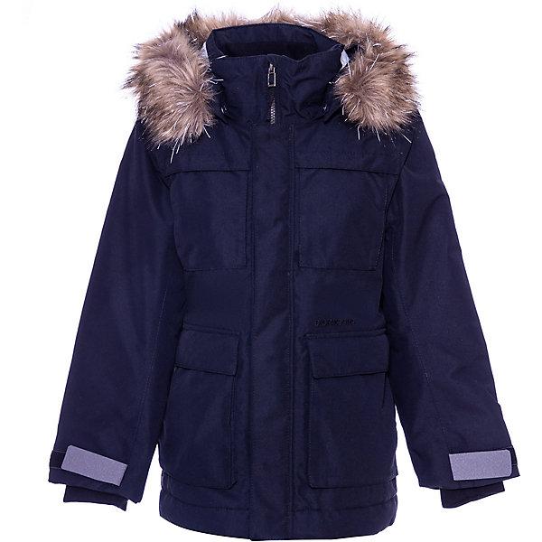 Утепленная куртка Didriksons NordenskioldВерхняя одежда<br>Характеристики товара:<br><br>• состав ткани: 100% полиэстер<br>• подкладка: 100% полиэстер, мягкая подкладка<br>• утеплитель: 200 гр м/2<br>• сезон: зима<br>• температурный режим: от 0 до -30С<br>• застёжка: молния с защитой подбородка<br>• особенности: мембранная<br>• водонепроницаемость: 10000 мм<br>• воздухопроницаемость: 5000 мм<br>• ламинация, пропитка - DWR finish<br>• все швы проклеены и водонепроницаемы<br>• безопасный съёмный и регулируемый капюшон<br>• съёмный искусственный мех на капюшоне<br>• регулируемый подол<br>• длина рукавов регулируется<br>• регулируемые манжеты<br>• внутренний трикотажный манжет с отверстием для большого пальца<br>• молния скрыта планкой<br>• карманы<br>• светоотражающие элементы<br>• страна бренда: Швеция<br><br>Куртка из водонепроницаемой и непродуваемой мембранной ткани с утеплителем (200 г/м2). Прокленные швы и дополнительная пропитка обеспечивают максимальную защиту от внешней влаги. Регулируемый съемный капюшон со съемным синтетическим мехом. Фронтальная молния под планкой. Регулируемые манжеты и низ изделия. Внутренние эластичные манжеты. Светоотражающие детали. Производитель рекомендует использовать термобелье и флисовую поддеву для сильных морозов.